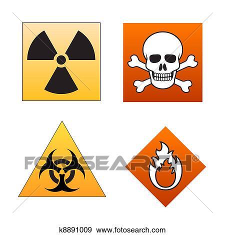 Clip Art Of Danger Symbols And Signals K8891009 Search Clipart