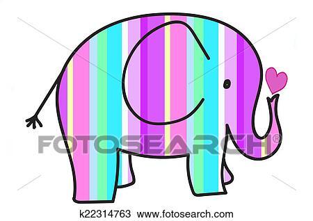 Pastel Boya Renklener Seritler Fil Cizim K22314763 Fotosearch