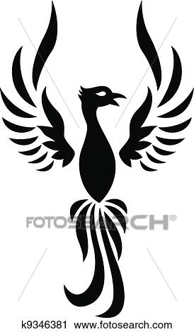 clipart of phoenix tattoo silhouette k9346381 search clip art rh fotosearch com phoenix az clipart phoenix arizona clip art