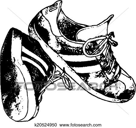 Running Shoes Vector Clipart Design Clipart