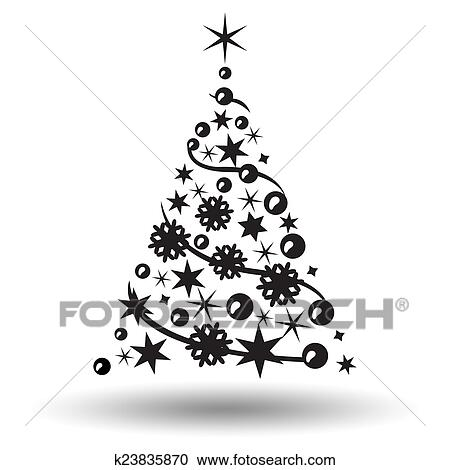 Clipart Weihnachtsbaum Isolated Abstraktes Design Logo
