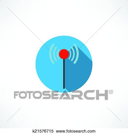 Clipart - wi-fi, antenne, symbol k21576715 - Suche Clip Art ...