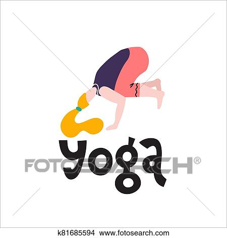 young woman stand in a yoga pose print yoga girl in