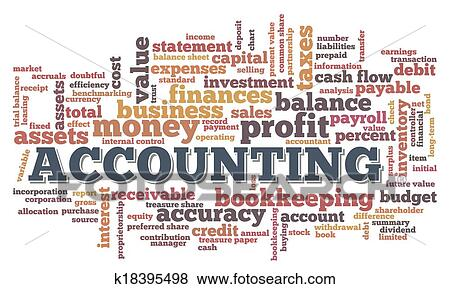 clip art of accounting word cloud word bubble tags k18395498