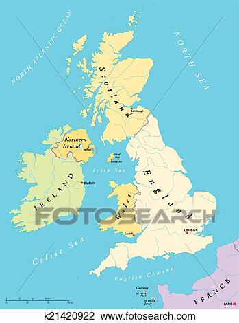 British Isles Map Clipart   k21420922   Fotosearch