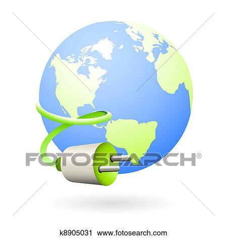 Clipart - erde, saubere energie, quelle, symbol k8905031 - Suche ...