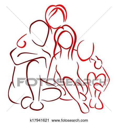 Clipart Of Family With Children K17941621