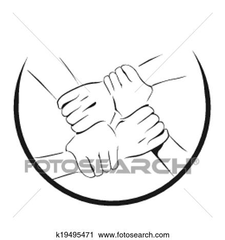 Unity Hand Symbol Clipart K19495471 Fotosearch