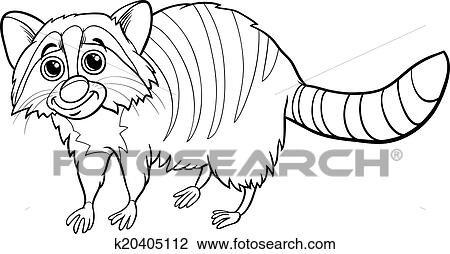 Clipart Waschbär Tier Karikatur Ausmalbilder K20405112 Suche
