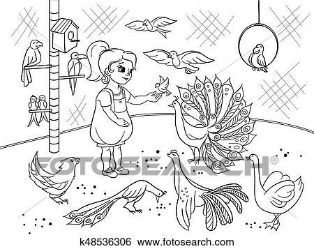 μαύρο κορίτσι στο πουλί