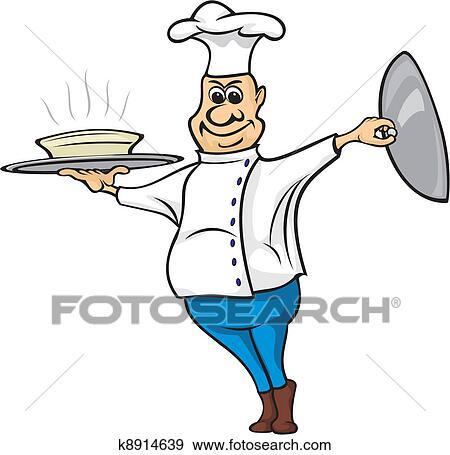 clip art of cook cooking bon appetit k8914639 search clipart rh fotosearch com cook clip art desserts cook clip art woman