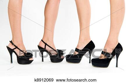 376c23f0e1 Stock Photograph of Four female foot k8912069 - Search Stock ...