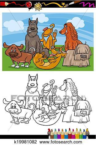 Clipart Lustig Hunde Karikatur Ausmalbilder K19981082 Suche