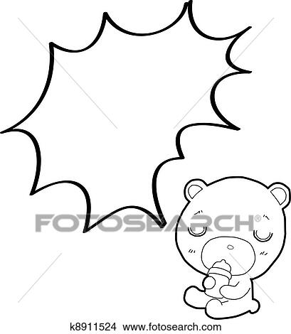 Clipart Mignon Ours Peluche Dessin Anime A Parole K8911524