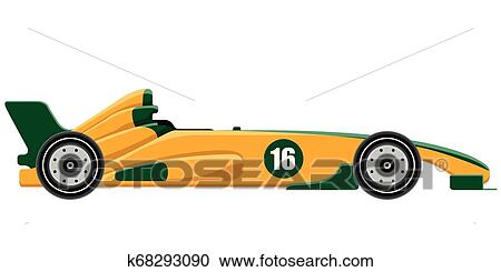 Side view of a formula 1 racing car Clipart   k68293090 ...