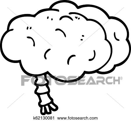 black and white cartoon brain clipart k62130081 fotosearch fotosearch