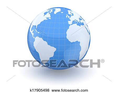 Pictures Of Globe Earth And World Map 3d K17905498 Search Stock
