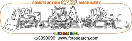 Maquinaria Construcción Transporte Libro Colorear Clip Art