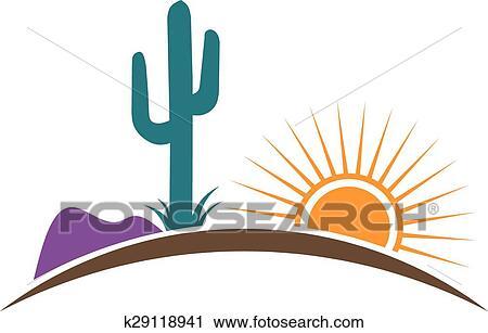 clipart of arizona desert logo k29118941 search clip art rh fotosearch com arizona clip art saguaro arizona clip art free