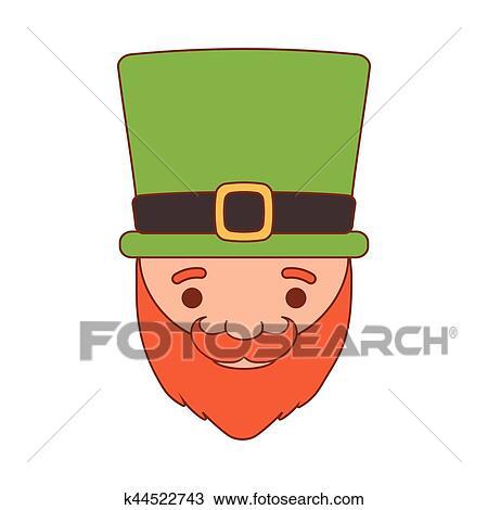 Cartone animato santo patrick giorno gnomo con cappello