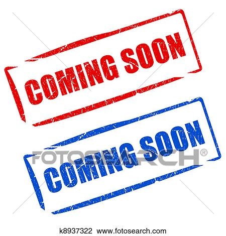 clip art of coming soon stamps k8937322 search clipart rh fotosearch com coming soon clip art free coming soon clip art free