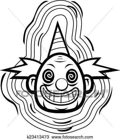 Evil Clown Clipart K23413473