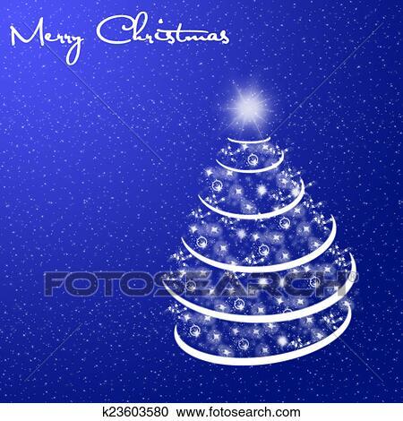 Banco De Ilustrações Feliz Natal Cartão Com Neve E árvore