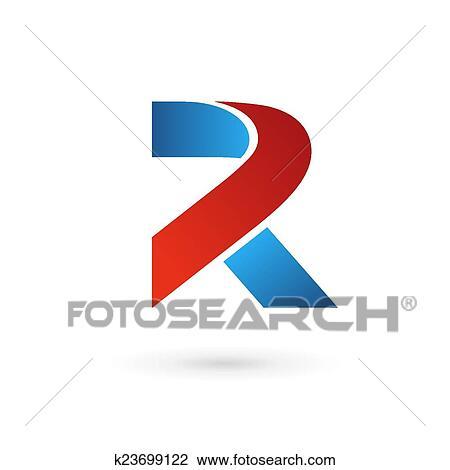 clipart letter r logo icon design template elements fotosearch search clip art