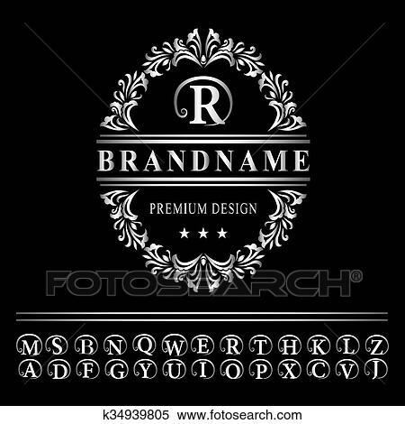Monogram Design Elements Graceful Template Elegant Line Art Logo Design Business Silver Emblem Letter R For Restaurant Royalty Boutique Cafe Hotel Heraldic Jewelry Fashion Vector Clipart K34939805 Fotosearch