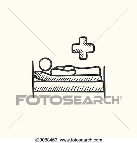 Clipart Patient Lugen Bett Skizze Icon K39088463 Suche Clip