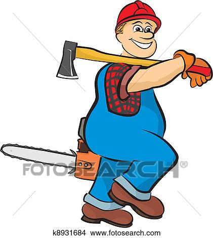 clipart of smiling lumberjack k8931684 search clip art rh fotosearch com hard work clipart free hard day at work clipart