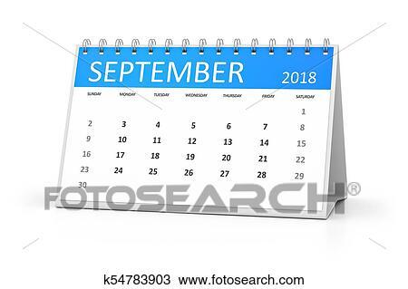 Calendario Dibujo Septiembre.Tabla Calendario 2018 Septiembre Dibujo