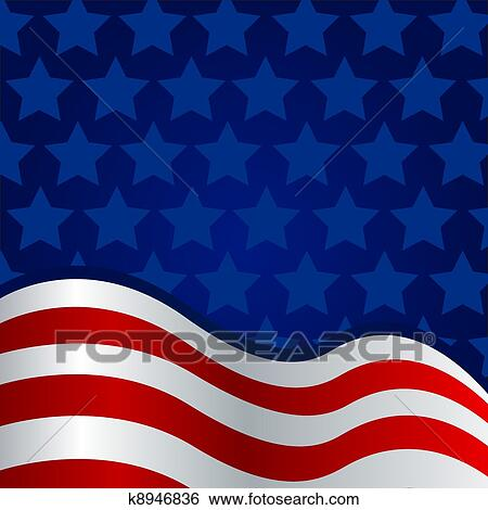 Clip Art Of 4th Of July Background K8946836 Search Clipart