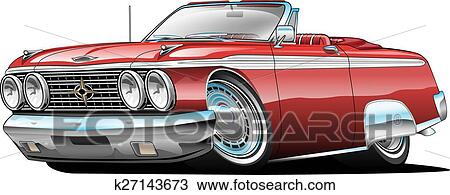 Clipart Of Classic American Muscle Car Cartoon K27143673 Search