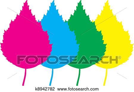 clipart of color leaf birch k8942782 search clip art illustration rh fotosearch com birch tree clip art free birch tree background clipart
