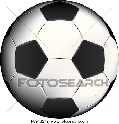 Fussball Ball Malen In Illustrator Clipart K8943272
