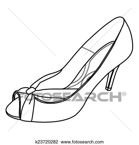 Clipart Of Hand Sketch High Heel Shoes K23720282 Search Clip Art