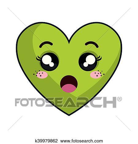 Emoji Coeur Dessin De Cœur Kawaii
