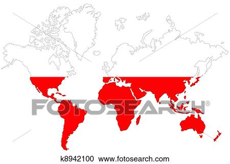 Stock Photography of Poland map symbol with flag. k8942100 - Search ...