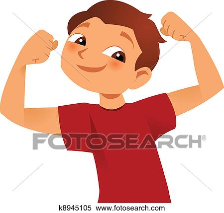clipart of strong kid k8945105 search clip art illustration rh fotosearch com clipart strong man clipart strong man