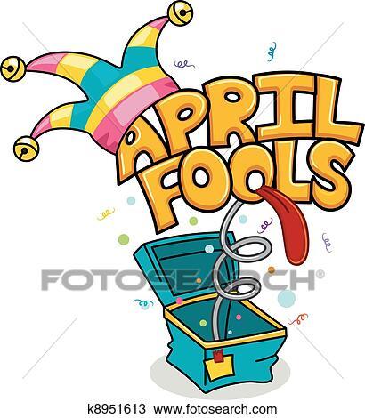 clipart of april fools day k8951613 search clip art illustration rh fotosearch com april fools day clipart free april fools birthday clipart