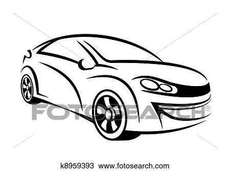Zeichnung - auto, strichzeichnung k8959393 - Suche Clipart ...