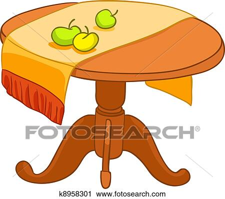 clipart of cartoon home furniture table k8958301 search clip art rh fotosearch com furniture clipart to scale furniture clipart images