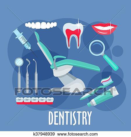 Clip Art Cuidado Dental Plano Icono Para Odontologia Diseno