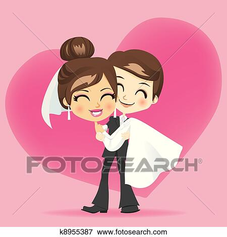 Clip Art Of Honeymoon Love K8955387