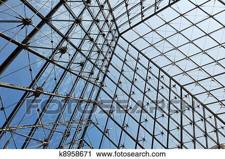 Banco de Fotografas metal techo cima estructura con vidrio