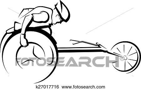 Clip art stilizzato maschio corridore sedia rotelle for Fisico sedia a rotelle