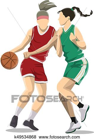 Boys playing basketball on white background - Download Free Vectors, Clipart  Graphics & Vector Art