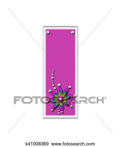 Colección de ilustraciones - alfabeto, metallica, rosa, yo k41008369 ...