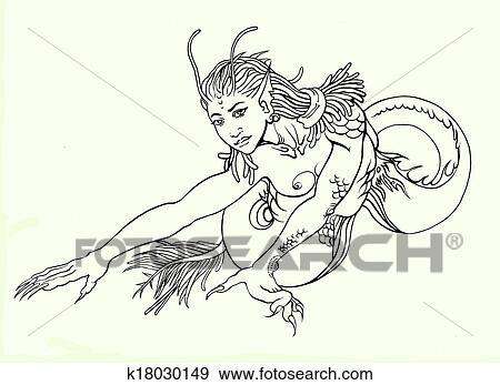 Asiatique style dragon m le fantasme caract re - Dessin contour ...